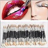 LuckyFine 100Pcs Disposable Make-Up Eye Shadow Sponge Lip Brush Applicator Cosmetic Tool