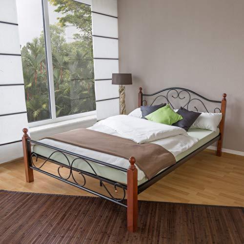 Homestyle4u Metallbett 140 x 200 Bettgestell mit Lattenrost - 2