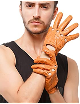 nappaglo uomini guida i guanti di cuoio italiano di pelle piena dito moto ciclismo in unlined guanti (touchscreen...
