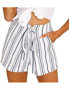 RETUROM-pantalones cortos ♥-♥-♥-Pantalones Cortos para Mujer, Mujer Verano Deporte Pantalón de impresión Casual...