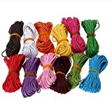 #8: ROSENICE Cotton Cords Strings 10M Waxed for Jewelry Craft Making (Random Color) - 12 Colors