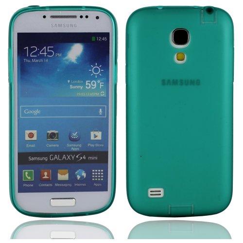 Verde sottile morbido silicone gomma protezione cover custodia guscio case shell skin per Samsung Galaxy S IV S4 Mini(non può andare bene S4) I9190
