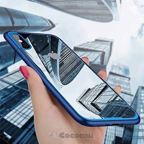 Cocomii Duotone Armor iPhone XS/iPhone X Hülle [Kristallene Klarheit] HD Anti-Vergilbung Antikratzbeschichtung Stoßfest Transparent Case Schutzhülle for Apple iPhone XS/iPhone X (Duo.Blue) Duo Shield Armor Case