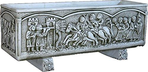 DEGARDEN Jardinera Medieval Piedra Exterior 92x30x30cm.