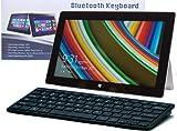 Navitech schwarzes Slankes Wireless Windows Bluetooth Keyboard für das Samsung ATIV Smart PC / Samsung ATIV Tab / Samsung ATIV 3 / Samsung ATIV Tab 7 / Samsung XE700