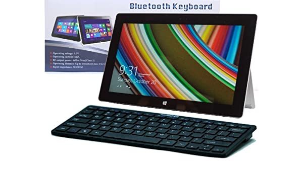 Navitech Tastiera Nera Wireless Windows Bluetooth per Toshiba/WT310 Toshiba Encore 8 Toshiba Z10T