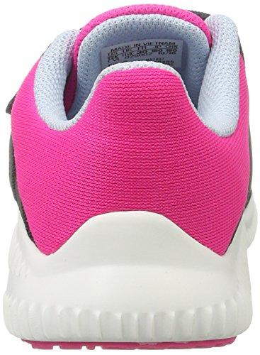 adidas Unisex-Kinder Fortarun Cf K Sneakers Grau (Dkgrey/Easblu/Shopin)