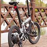 FORÇA Folibike 20' Zoll Faltfahrrad E-Bike mit 250 Watt Elektromotor 7-Gang Shimano Kettenschaltung 36V 5,2Ah Lithium-Ion Akku und 25 km/h Topspeed