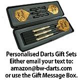 Personalisierter Messing Darts Geschenk Set mit goldflights