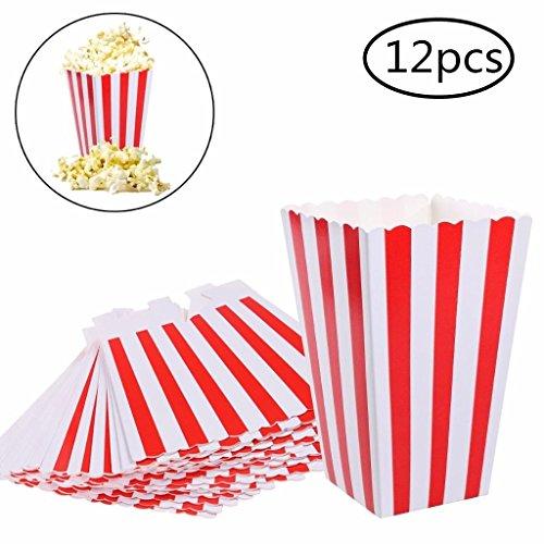 Uoeo 12Stück Popcorn-Taschen für Süßigkeiten Popcorn-Taschen-Party-mit (Sleepover Favors Party)
