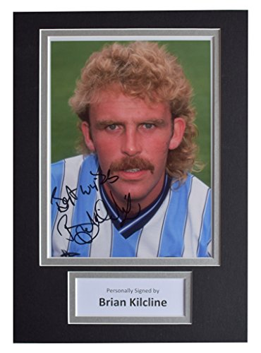 Sportagraphs Brian Kilcline Signed Autograph A4 photo display Coventry City Football COA PERFECT GIFT