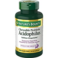 Nature's Bounty Acidophilus w/Lactis Milk Free, 100 Chewable Wafers