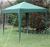 Airwave 2.0x2.0mtr Green Pop Up Gazebo Waterproof with Four Side Panels and Carrybag