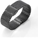 Correa de reloj, XINGDONGCHI 22mm Inoxidable Acero Correa Metal Banda para Motorola Moto 360 SmartWatch y Lg G Watch R W100 W110, urbano, Guijarro, Samsung Gear 2 Neo