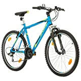 BIKE SPORT LIVE ACTIVE Bikesport Thunder 26 Zoll Fahrrad Mountainbike Herren-Fahrrad Jungen-Fahrrad Shimano 18 Gang (Blau matt, XL)
