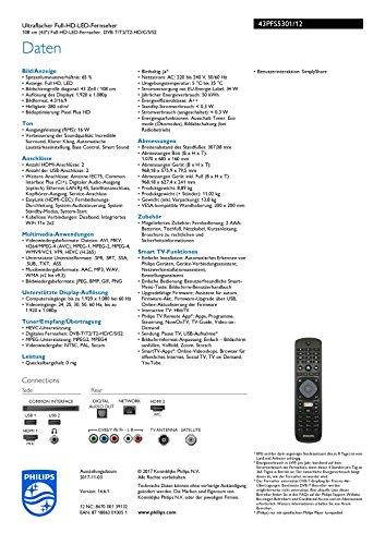 Philips 43PFS5301/12 108 cm (43 Zoll) Fernseher (Full-HD, Smart TV) schwarz - 3