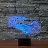3D Lampe USB Power 7 Farben Erstaunliche Optische Täuschung 3D Wachsen LED Lampe Auto Formen Kinder Schlafzimmer Nachtlicht