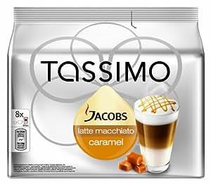 Tassimo Jacobs Latte Macchiato Caramel, 5er Pack