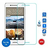 Royal Touch (TM) HTC Desire 728G Dual / TEMPERED GLASS SCREEN PROTECTOR / BUBBLE FREE APPLICATION / HOLE FOR FRONT PROXIMITY SENSOR / NO HANGING PROBLEM / HIGH QUALITY JAPANESE AGC GLASS MATERIAL / 0.3MM SLIM THICK / 2.5D CURVED EDGE