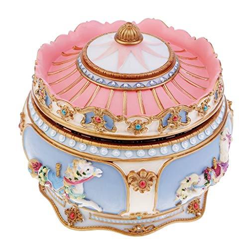 WHTBB Beleuchtete Karussell Spieluhr Mode kreative und schöne Geschenk-Ornamente senden Männer und Frauen Freunde Geburtstagsgeschenke - Beleuchtete Weihnachten Geschenkboxen