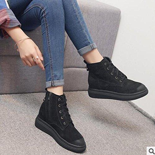 16e9199762ad ... Hsxz Chaussures Femme Pu Automne Hiver Confort Bottes Plat Round Toe Cheville  Bottes   Bottines Vêtements ...