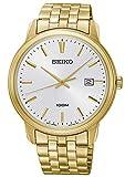 Seiko Herren-Armbanduhr Quarz Goldfarben SUR264P1