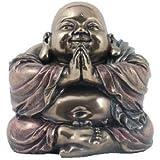 Metallic-Look Laughing Buddha 'Abundance'