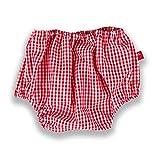 La Fraise Rouge 4251005604984 - Pantaloncini copripannolino Marcel, taglia 74 - 86, a quadretti, rosso/bianco