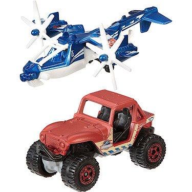 jurassic-world-sky-safari-mbx-4x4-2015-land-air-matchbox-2-pack-vehicle-set