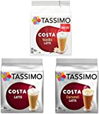Costa Latte Lovers 3 Variety Pack (Caramel/Vanilla/Original) 24 Servings - 48 Discs