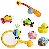 Bad Angeln Spielzeug mit Schwimmenden Fisch Badespaß Zeit Großes Geschenk für Frühe
