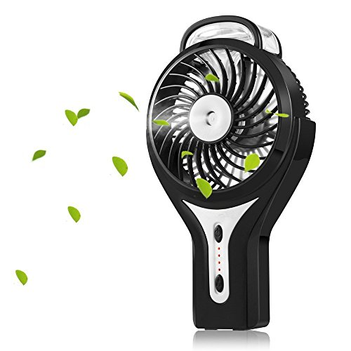 Welltop Ventilador de la bruma de mano Mini USB Ventilador con spray...