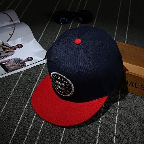 mlpnko Mode Hipster flachen Hut kreative Neue Paar HutStreet Dance Mode hip hop Hut Stil 2 (56-60 cm)