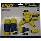 Kinzo 29345 6 embouts et connecteurs de tuyaux/flexibles pour arrosage
