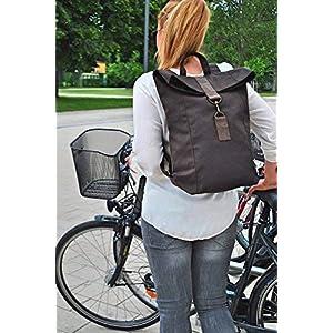 Brauner Canvas Rucksack,Leder Rucksack, wasserabweisend, Laptop Tasche, große Tasche, Herren Rucksack, Damen Rucksack, Rucksack, UNISEX