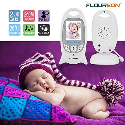 FLOUREON Babyphone mit Kamera Digital Video Baby Monitor Gegensprechfunktion 2-Wege Audio Überwachungskamera Nachtsicht 8 Schlaflieder Temperatursensor - 3