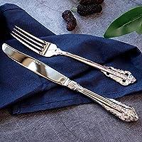 Cuchillo mixto de lujo de 3 piezas Conjuntos Cuchillo Cuchara Tenedor Ensalada Barroca Original Sealed Silver