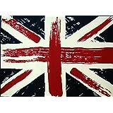 Tappeto moderno bandiera inglese union jack grigia PERS 1878-W55 ...