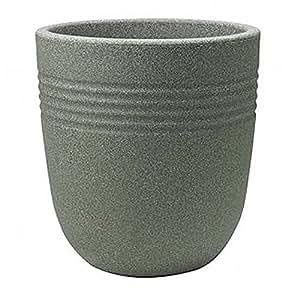Stewart Egg Pot de fleur rond Vert marbre 37cm