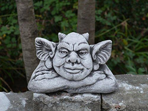 Lustiger Gnome Troll Teufel Fantasiefigur aus Steinguss, frostfest