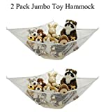 *2 Pack* Jumbo Toy Hammock Net Organize Stuffed Animals By Handy Laundry