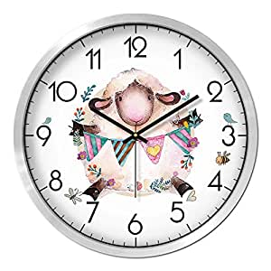 Living Arts Creative Living Room Clocks Contemporary European Style Floral Garden Clock 12