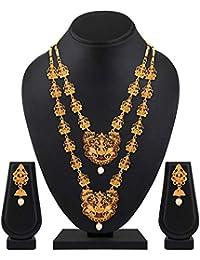 Shining Diva Fashion Latest Design Combo Stylish Necklace Set for Women Wedding Traditional Jewellery Set for Women