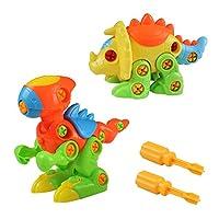 Akokie Dinosaur Toys Kids Take Apart Animals Toys DIY Dino Puzzle Push Construction Set Assembly for Boys Girls 3 4 5 6 Years Old