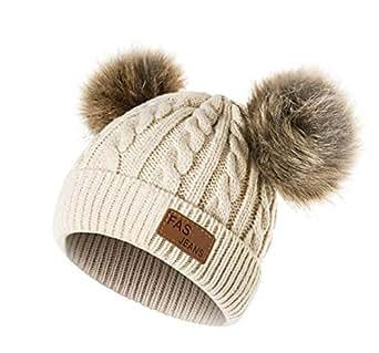Cappello Bambina Topgrowth Berretti Invernali Ragazza Crochet ... 92742194fa40
