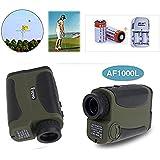 Boblov AF100L Telémetro monocular telémetro láser caza impermeable Golf telémetros láser portátil Medida del metro de distancia / Tester (Verde)