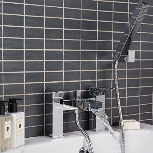 Badewannenarmatur Duscharmatur Duschset Handbrause Wasserfall Chrom