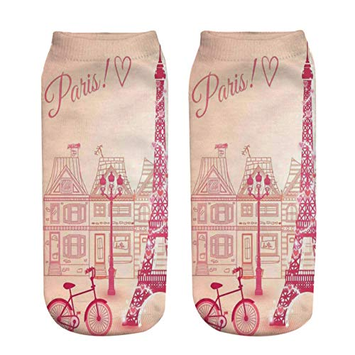 NANAYOUPIN Mode 5 Paar Neue Candy Paw Print 3D Print Socken Kaktus Rosa BAU Leckeres Essen Muster Mann Frau Socken Baumwolle Komfortable Casual SockenGebäude (Cougar Print Paw)