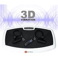 Preisvergleich für AsVIVA Vibrationsplatte 3D-Vibration V10 mit 3D Wipp-Technik 2 x 200W flüsterleise Motoren – 3-Zonen Trainingsfläche, vertikale, horizontale und Surfing Vibrationstechnik inkl. Fernbedienung