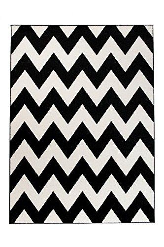 Tapiso Alfombra De Salón Moderna Colección Marroquí – Color Negro